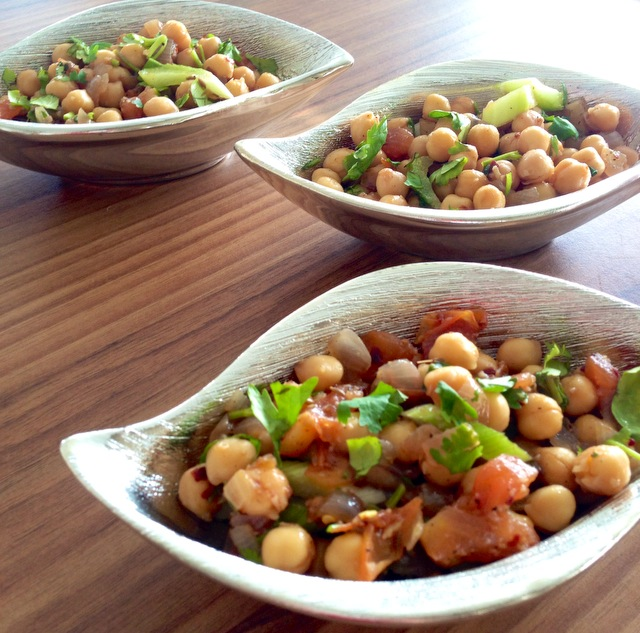 Buttery Spiced Chickpeas with Pomegranate Vinaigrette 2