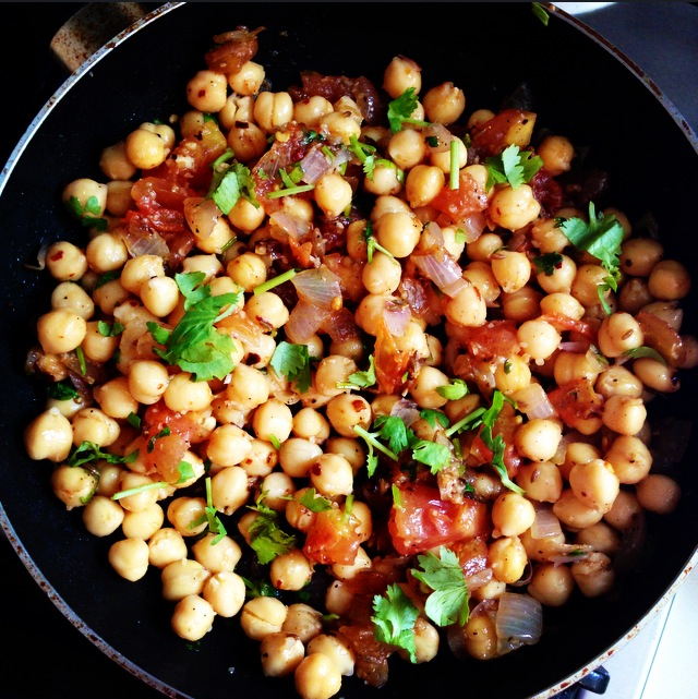 Buttery Spiced Chickpeas