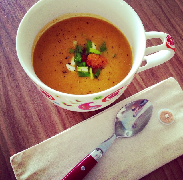 Lemongrass Infused Curry Pumpkin Soup